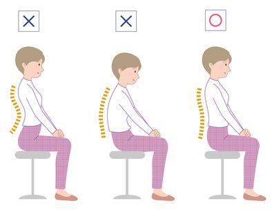 座り方について、疲れず長時間座るコツ